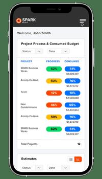 SPARK Select | Mobile Application Dashboard