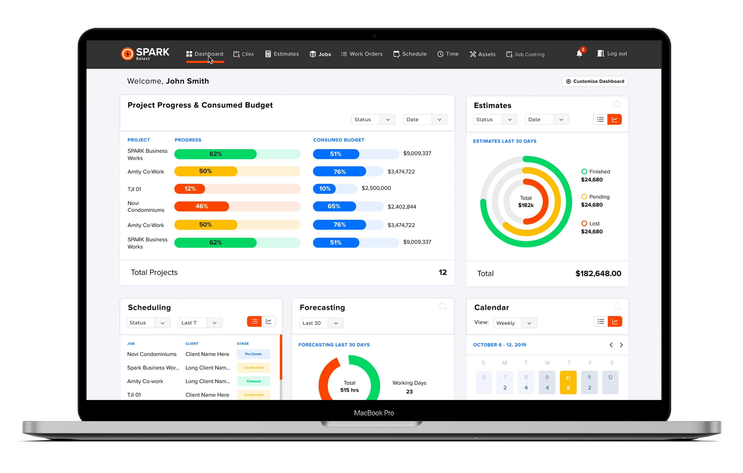 SPARK Select | Web Dashboard
