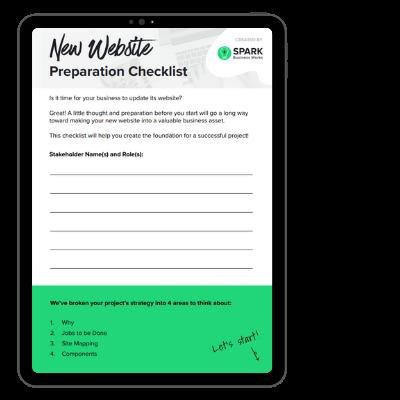 SPARK Website Prep Checklist