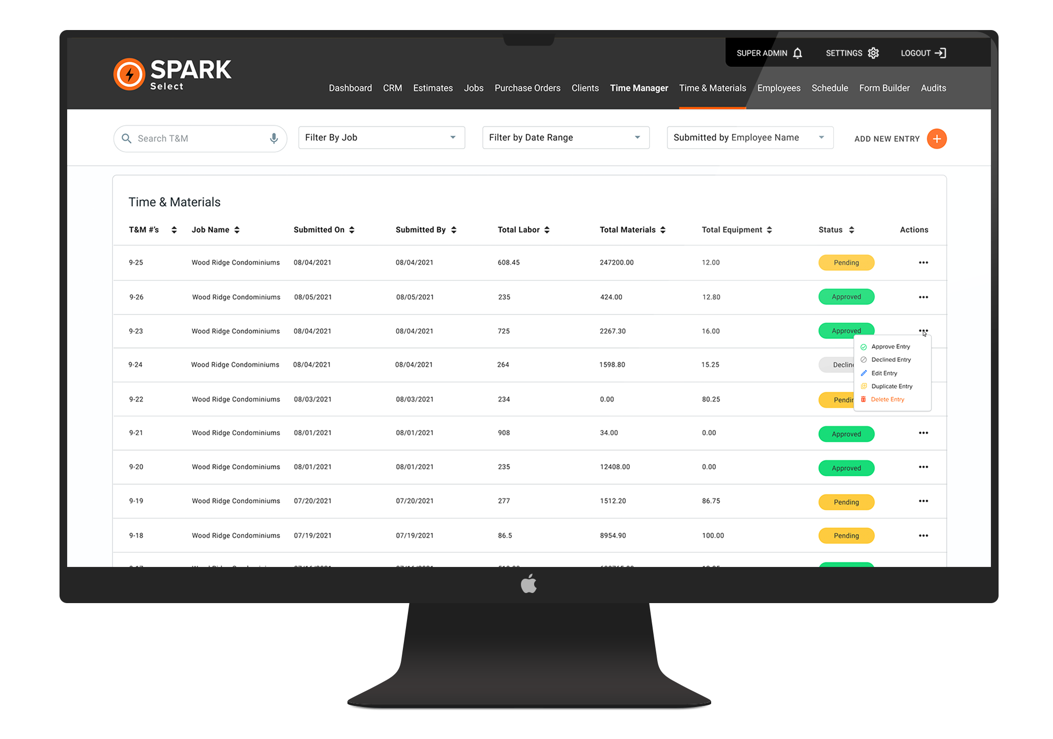 SPARK Select Modules | Resource Planning